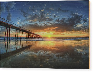 Hermosa Beach Wood Print by Neil Kremer