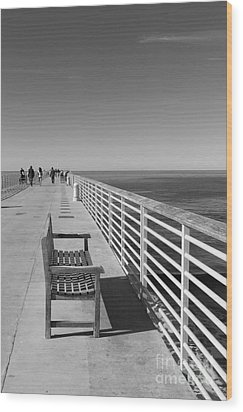 Hermosa Beach Seat Wood Print