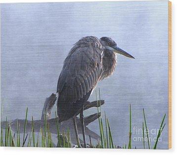Heron 5 Wood Print