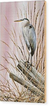 Herons Watch Wood Print by James Williamson