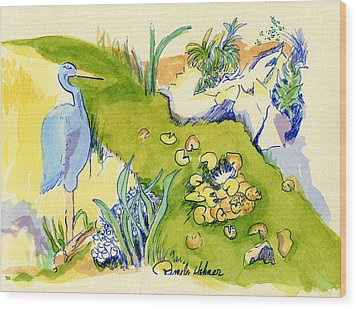 Herron Pond Wood Print by Pamee Hohner