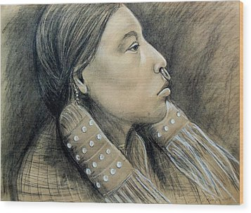 Hesquiat Maiden Wood Print