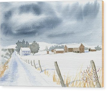 Hester Homeplace Wood Print by Denise   Hoff