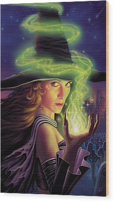 Hex Of The Wicked Witch Wood Print by Philip Straub