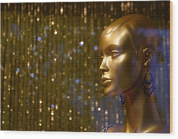 Hey Gold Looking Wood Print by Jez C Self