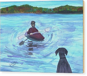 Wood Print featuring the painting Hey Where You Going  by Donna Walsh