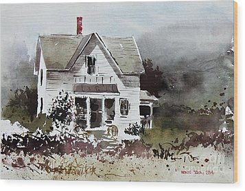 Heyl House, Minneapolis, Kansas Wood Print by Monte Toon