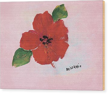 Hibiscus Wood Print by Katie OBrien - Printscapes