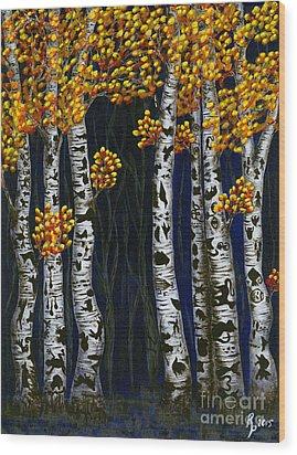 Hidden Autumn  Wood Print