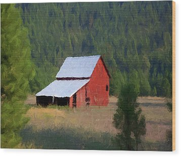 Wood Print featuring the painting Hidden Away P D P by David Dehner