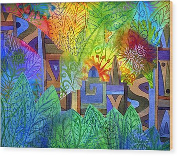 Hidden City Wood Print by Jennifer Baird