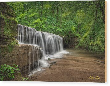 Hidden Falls  Wood Print by Rikk Flohr
