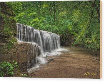 Wood Print featuring the photograph Hidden Falls  by Rikk Flohr