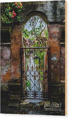 Bali Gate Wood Print