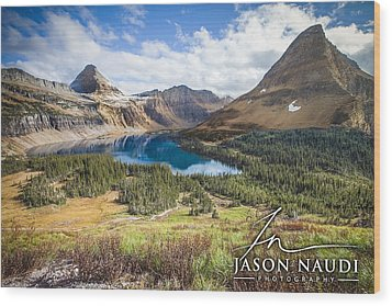 Wood Print featuring the photograph Hidden Lake by Jason Naudi