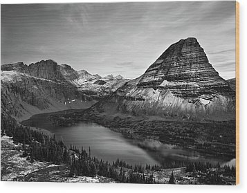 Hidden Lake Wood Print by Jesse Estes
