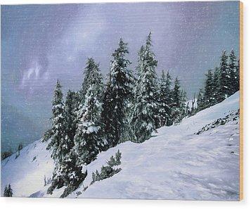 Hidden Peak Wood Print by Jim Hill