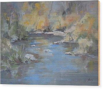 Hidden River Wood Print by Elaine Monnig