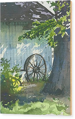Hidden Shadows Wood Print by Spencer Meagher
