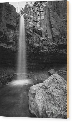 Hidden Waterfall Wood Print