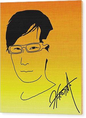 Hideo Kojima Wood Print by Kyle West