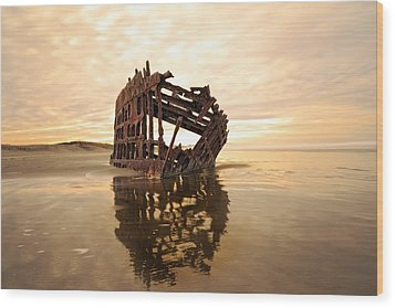 High And Dry, The Peter Iredale Wood Print