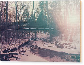 Wood Print featuring the photograph High Cliff Bridge by Joel Witmeyer