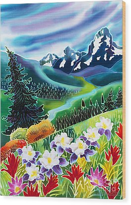 High Country Wood Print by Harriet Peck Taylor