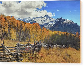 High County Ablaze Wood Print
