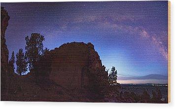 Wood Print featuring the photograph High Desert Dawn by Leland D Howard