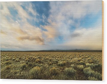 Wood Print featuring the photograph High Desert Morning by Ryan Manuel