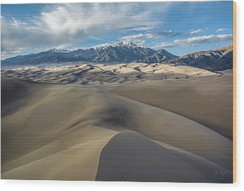 High Dune - Great Sand Dunes National Park Wood Print by Aaron Spong