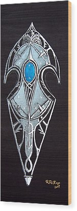 High Elven Warrior Shield  Wood Print