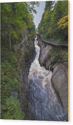 Wood Print featuring the photograph High Falls Gorge Adirondacks by Mark Papke