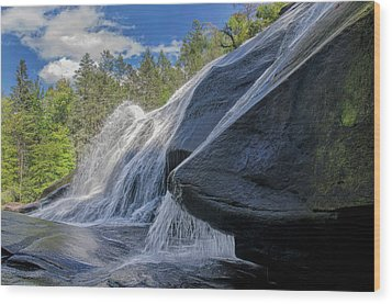 Wood Print featuring the photograph High Falls One by Steven Richardson