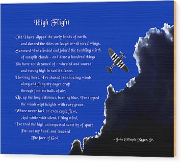 High Flight Wood Print by Mike Flynn