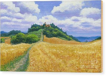 Wood Print featuring the painting High Noon Tuscany  by Michael Swanson