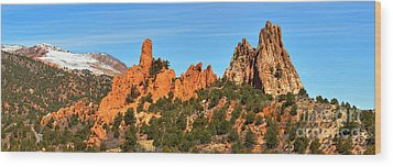 Wood Print featuring the photograph High Point Panorama At Garden Of The Gods by Adam Jewell