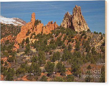 Wood Print featuring the photograph High Point Rock Towers by Adam Jewell