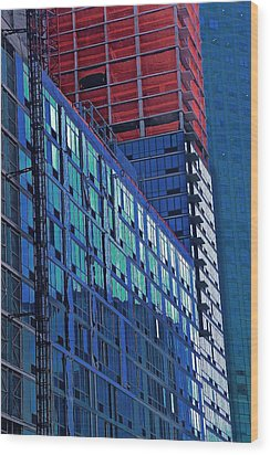 High Rise Wood Print by Gillis Cone