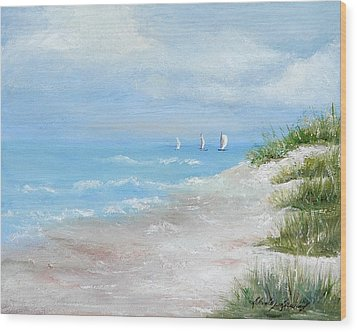 High Sails Wood Print by Shirley Lawing