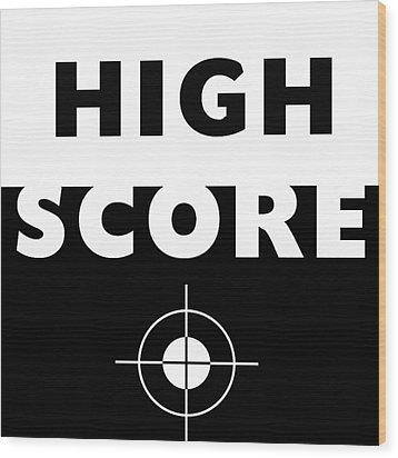 Wood Print featuring the mixed media High Score- Art By Linda Woods by Linda Woods