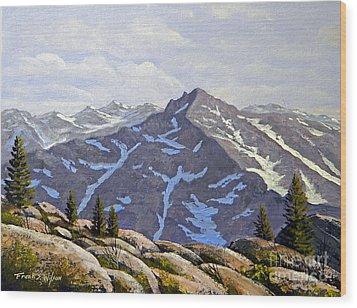 High Sierras Study Wood Print by Frank Wilson