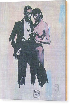 High Society Wood Print by Roberto Prusso