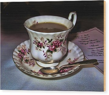 High Tea Wood Print