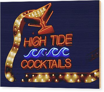 Wood Print featuring the photograph High Tide Cocktails by Matthew Bamberg