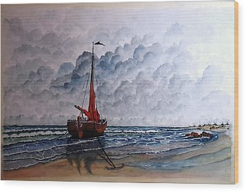High Tide2 Sold Wood Print by Richard Benson