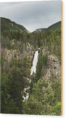 Wood Print featuring the photograph High Water At Fish Creek Falls by Daniel Hebard