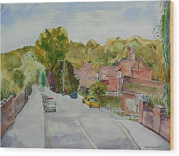 Wood Print featuring the painting High Wycombe by Geeta Biswas