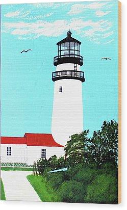 Highland - Cc - Lighthouse Painting Wood Print by Frederic Kohli